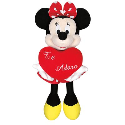 Pelucia-Disney-Minnie-Media-com-Coracao-te-adoro-Long-Jump