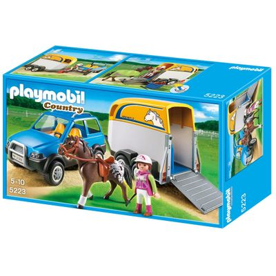 Playmobil--Country-Carro-com-Trailler-5223