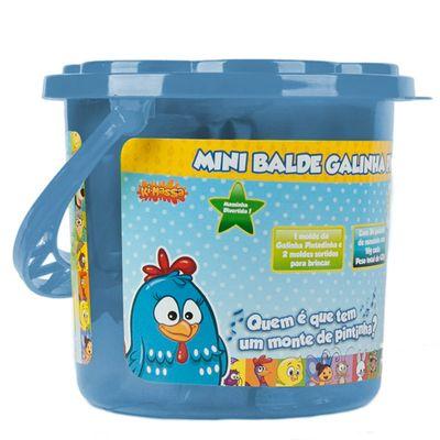 Massinha - Mini Balde Galinha Pintadinha - Azul - Sunny