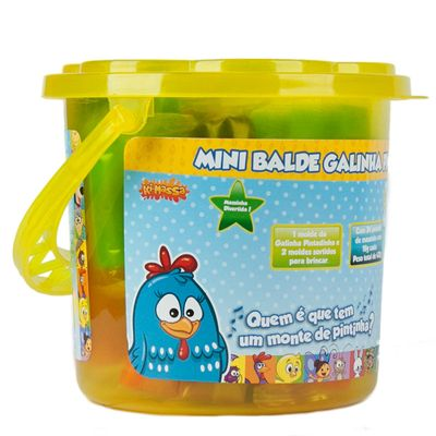 Massinha - Mini Balde Galinha Pintadinha - Amarelo - Sunny