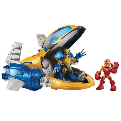 Veiculo-Marvel-Super-Heroes--Rescue-Jet--Wolverine---Iron-Man-Hasbro