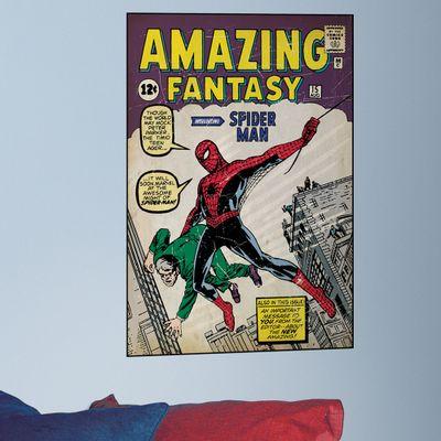 Adesivo de Parede Spider-Man - Capa Histórias em Quadrinhos - Edição 1 - RoomMates - Disney