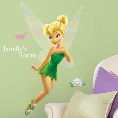 Adesivo de Parede Gigante - Tinker Bell com Alfabeto - RoomMates - Disney