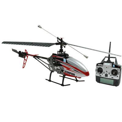Helicóptero de Controle Remoto com Câmera - Scorpion Vermelho - Candide