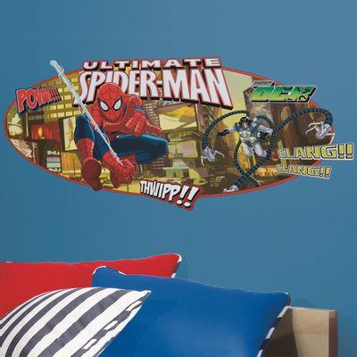 Adesivo de Parede Gigante - Painel Spider-Man - RoomMates - Disney