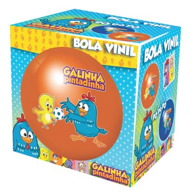 Caixa-Bola-de-Vinil-Decorada-Laranja--Galinha-Pintadinha-Lider