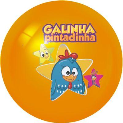 Bola-de-Vinil-Decorada-Laranja-Estrela-Galinha-Pintadinha-Lider