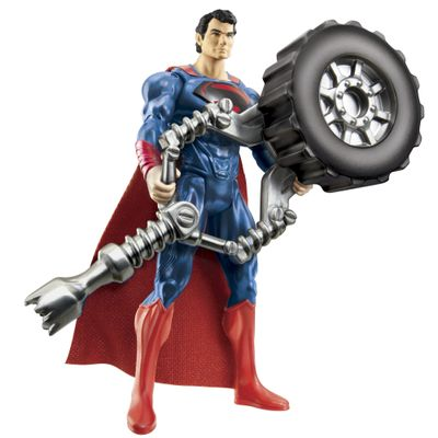Boneco-Superman-Man-of-Steel-Superman-Lanca-Pneus-10-cm-Mattel