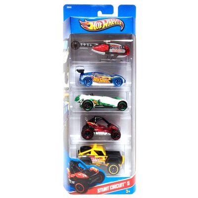 Carrinhos-Hot-Wheels-Pacote-com-5-Carros-HW-Stunt-Mattel