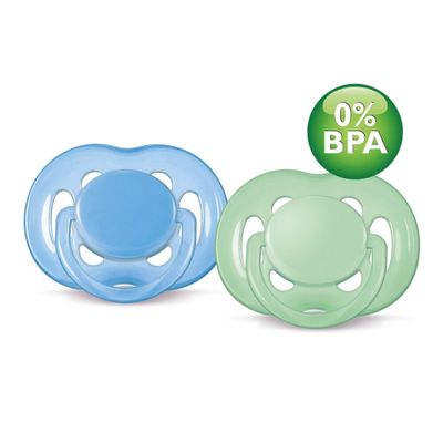 Chupeta-FreeFlow-BPA-Free-6-a-18-Meses-Double-Pack-Azul-e-Verde-Philips-Avent