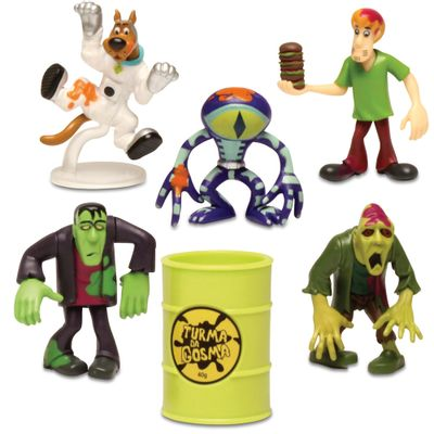 Mini-Bonecos---Scooby-Doo---Turma-da-Gosma-Kit-2---5-Personagens---DTC