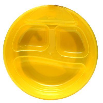 Prato-Termico-com-Divisorias-Amarelo-Love