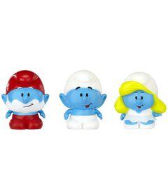 Mini-Bonecos---Smurfs-Micro-Vila---Papai-Smurf-Smurf-e-Smurfette---Sunny
