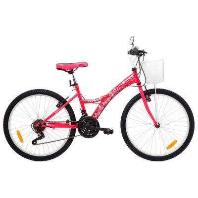 Bicicleta Aro 24 - Aço Urban Teen Rosa - Tito Bikes