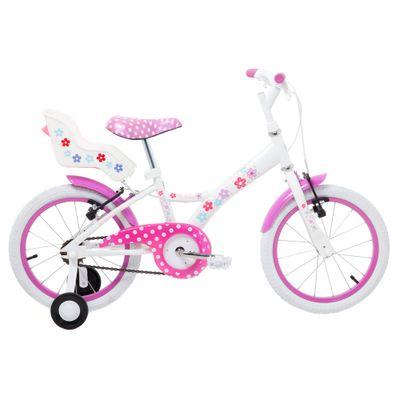 Bicicleta-Aro-16-Aco-My-Bike-Branca-com-Porta-Boneca-Tito-Bikes
