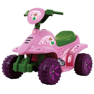 Mini-Quadriciclo-Eletrico-Mini-Quad-Rosa-6V