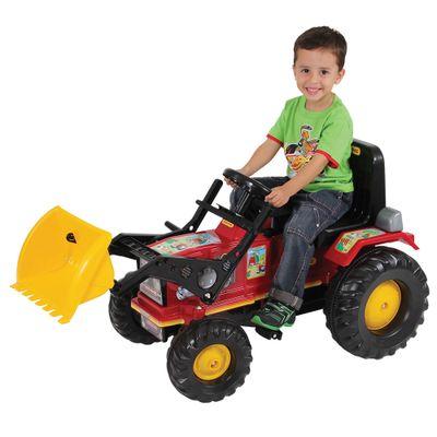 Mini-Veiculo-a-Pedal-Trator-Farmer-Vermelho-com-Pa
