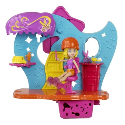 Playset-Boneca-Polly-Pocket-Wall-Party-Mundo-Divertido-Salao-de-Beleza-Mattel