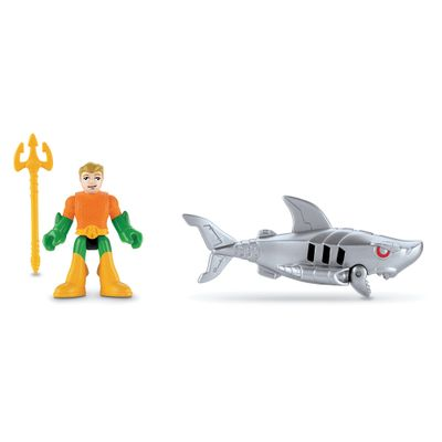 Bonecos Aquaman e Robô Shark - Imaginext DC Super Amigos - Fisher-Price