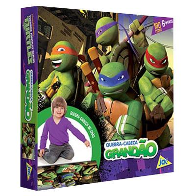 Quebra-Cabeca-Grandao---Tartarugas-Ninja---120-Pecas---Toyster
