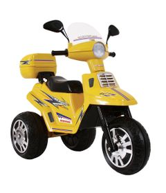 Mini-Moto-Eletrica-Scooter-City-Amarela-6V-Biemme