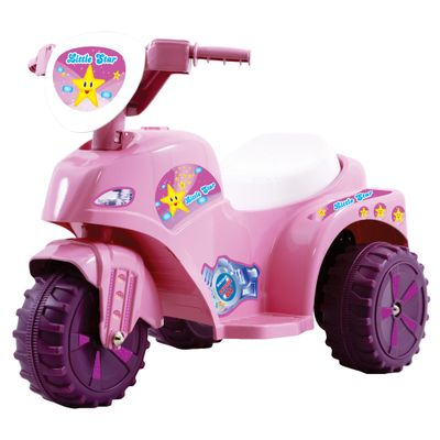 Mini-Moto-Eletrica-Little-Star-Rosa-6V-Biemme
