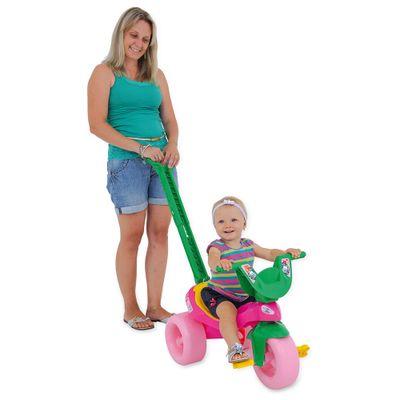 Triciclo com Empurrador Moranguinho Baby - Xalingo
