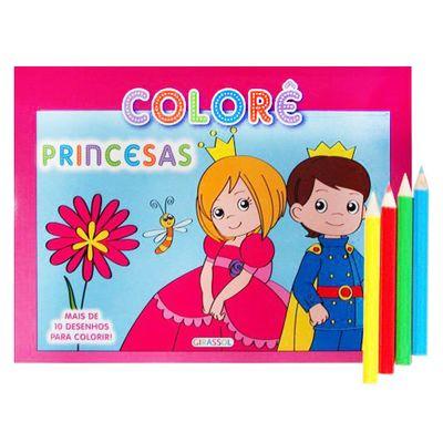 Livro-Colore-Princesas-Girassol