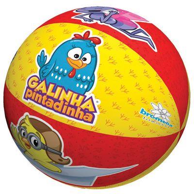 Bola-de-Espuma---Galinha-Pintadinha---Vermelha-e-Amarela---Pais-e-Filhos