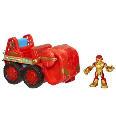 Mini-Boneco-Iron-Man-com-Veiculo-Playskool-Hasbro