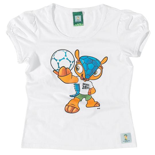 Blusa Fuleco - Copa do Mundo 2014 - Branca - Malwee Blusa Fuleco - Copa 2014 - Branca - Malwee Tam 2