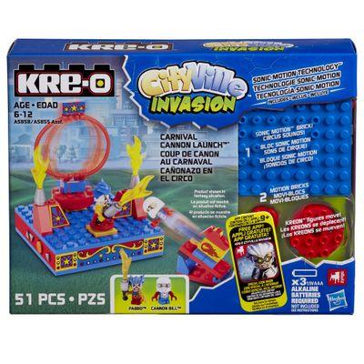 Caixa-Kre-o-CityVille-Invasion-com-Movimento-Circo-Canhao-de-Lancamento-Hasbro