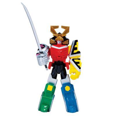 Power-Rangers-Samurai-Megazord-Armor-com-Samurai-Ranger-Fogo-detalhe