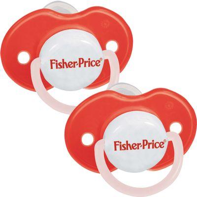 Chupeta-Ortodontica-Bico-de-Silicone-Vermelha-Fase-2-Fisher-Price