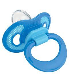 Chupeta-com-Bico-de-Silicone-Ventilada---Azul---Kuka