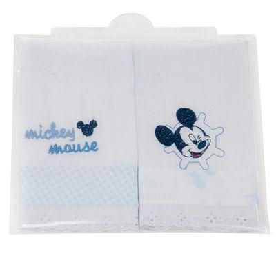 Babete-do-Mickey-2-Unidades-Azul-e-Branco-Minas-Rey
