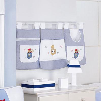 Porta-Trecos-Ursinho-Esportista-Azul--e-Branco-Esconde-Esconderijo