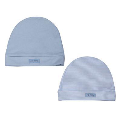 Kit-Touca-Listrada---2-Pecas---Azul---Up-Baby---A3050