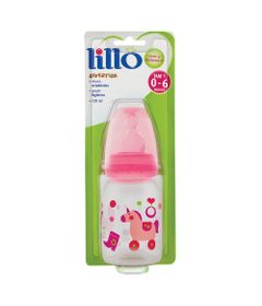 Mamadeira-Divertida-Tradicional-Silicone-120-ml-Brinquedos-rosa---Lillo