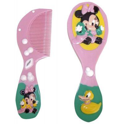 Conjunto-de-Escova-e-Pente-3D-Disney-Minnie-Rosa---Lill