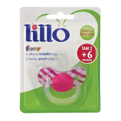 Chupeta-Fanny-Xadrez-Bico-de-Silicone-Ortodontico---Fase-2---Rosa---Lillo-