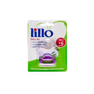 Chupeta-Extra-Air-Bico-de-Silicone-Ortodontico---Fase-2---Lilas---Lillo-