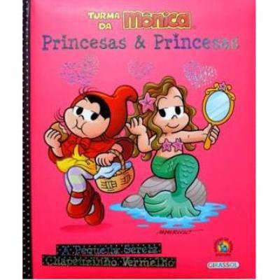 Livro---Turma-da-Monica-Pequena-Sereia-e-Chapeuzinho-Vermelho---Editora-Girassol