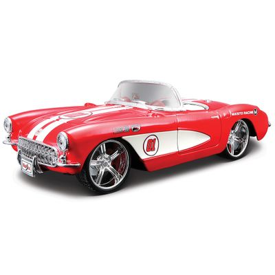 Carro-Colecionavel-Pro-Rodz-Chevrolet-Corvette-Vermelho-1957-1-24-Maisto
