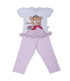 Pijama-Princesa-Ursa---Blusa-e-Calca---Cara-de-Crianca---0758BC
