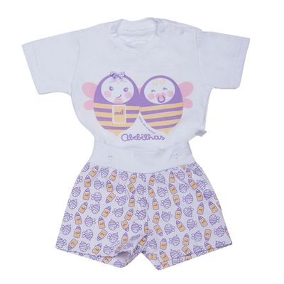 Pijama-Abelhinhas---Blusa-e-Short---Cara-de-Crianca---08134U