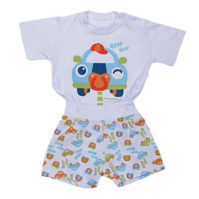Pijama-Fusca---Camiseta-e-Short---Cara-de-Crianca---06894U