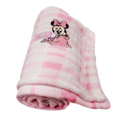 Manta-de-Microfibra-Bordada-Disney-Baby-Minnie-com-Mantinha-Rosa-e-Branca-Jolitex
