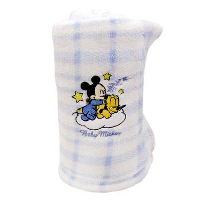 Manta-de-Microfibra-Bordada-Disney-Baby-Mickey-e-Pluto-Azul-e-Branca-Jolitex
