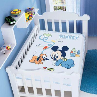 Cobertor-Raschel-Disney-Baby-Mickey-com-Pluto-Azul-Jolitex